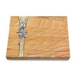 Grabtafel Omega Marmor Strikt Rose 8 (Alu)