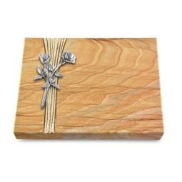 Grabtafel Omega Marmor Strikt Rose 10 (Alu)