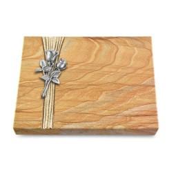 Grabtafel Omega Marmor Strikt Rose 11 (Alu)