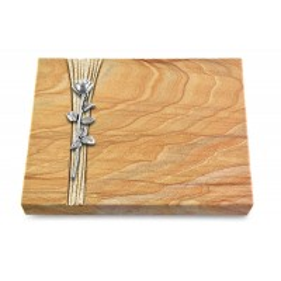 Grabtafel Omega Marmor Strikt Rose 12 (Alu)