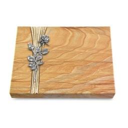 Grabtafel Omega Marmor Strikt Rose 13 (Alu)