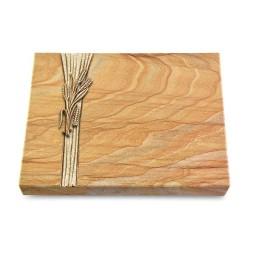 Grabtafel Omega Marmor Strikt Ähren 1 (Bronze)