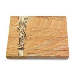 Grabtafel Omega Marmor Strikt Ähren 2 (Bronze)