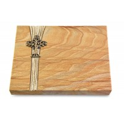 Grabtafel Omega Marmor Strikt Baum 2 (Bronze)