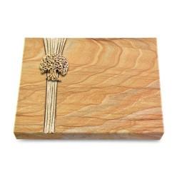 Grabtafel Omega Marmor Strikt Baum 3 (Bronze)