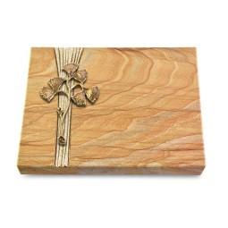 Grabtafel Omega Marmor Strikt Gingozweig 1 (Bronze)