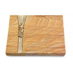 Grabtafel Omega Marmor Strikt Maria (Bronze)