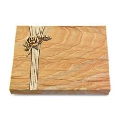 Grabtafel Omega Marmor Strikt Rose 1 (Bronze)