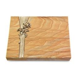 Grabtafel Omega Marmor Strikt Rose 2 (Bronze)