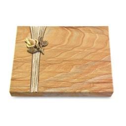 Grabtafel Omega Marmor Strikt Rose 3 (Bronze)