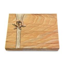 Grabtafel Omega Marmor Strikt Rose 4 (Bronze)