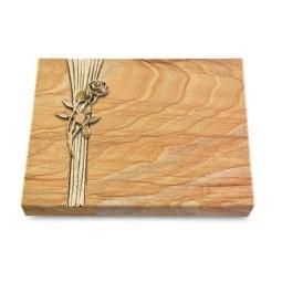 Grabtafel Omega Marmor Strikt Rose 6 (Bronze)