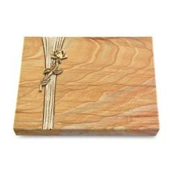 Grabtafel Omega Marmor Strikt Rose 7 (Bronze)