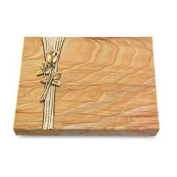 Grabtafel Omega Marmor Strikt Rose 8 (Bronze)