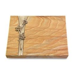 Grabtafel Omega Marmor Strikt Rose 9 (Bronze)