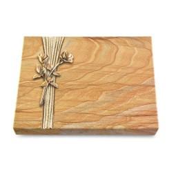 Grabtafel Omega Marmor Strikt Rose 10 (Bronze)