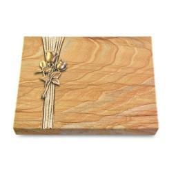 Grabtafel Omega Marmor Strikt Rose 11 (Bronze)