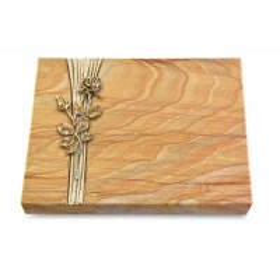 Grabtafel Omega Marmor Strikt Rose 13 (Bronze)
