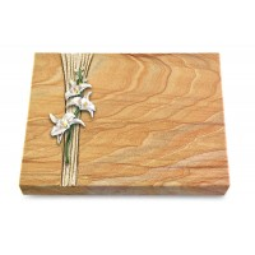 Grabtafel Omega Marmor Strikt Orchidee (Color)