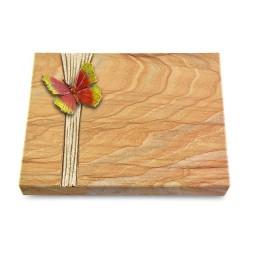 Grabtafel Omega Marmor Strikt Papillon 2 (Color)