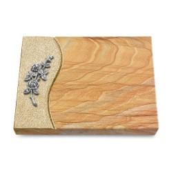 Grabtafel Omega Marmor Wave Rose 5 (Alu)