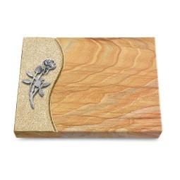 Grabtafel Omega Marmor Wave Rose 6 (Alu)
