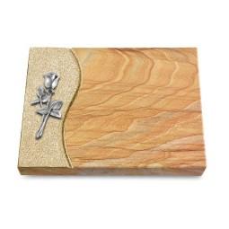 Grabtafel Omega Marmor Wave Rose 8 (Alu)