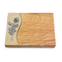 Grabtafel Omega Marmor Wave Rose 13 (Alu)
