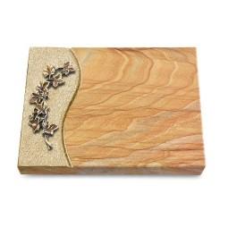 Grabtafel Omega Marmor Wave Efeu (Bronze)