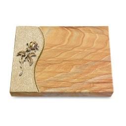 Grabtafel Omega Marmor Wave Rose 2 (Bronze)