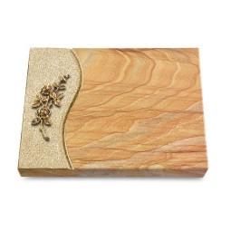 Grabtafel Omega Marmor Wave Rose 5 (Bronze)