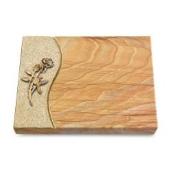 Grabtafel Omega Marmor Wave Rose 6 (Bronze)