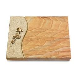 Grabtafel Omega Marmor Wave Rose 7 (Bronze)