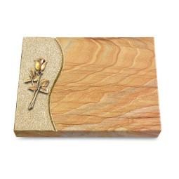 Grabtafel Omega Marmor Wave Rose 8 (Bronze)