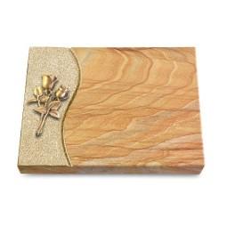 Grabtafel Omega Marmor Wave Rose 11 (Bronze)