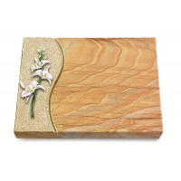 Grabtafel Omega Marmor Wave Orchidee (Color)