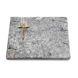 Grabtafel Paradiso Delta Kreuz/Ähren (Bronze)
