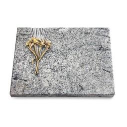 Grabtafel Paradiso Delta Lilie (Bronze)