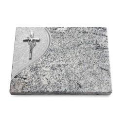 Grabtafel Paradiso Folio Kreuz/Ähren (Alu)