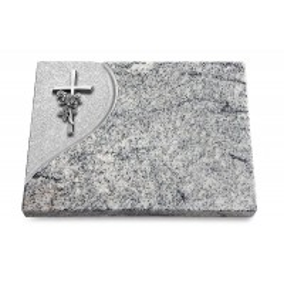 Grabtafel Paradiso Folio Kreuz/Rose (Alu)