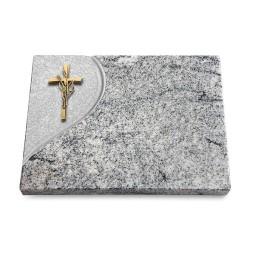 Grabtafel Paradiso Folio Kreuz/Ähren (Bronze)