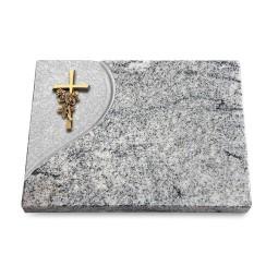 Grabtafel Paradiso Folio Kreuz/Rose (Bronze)