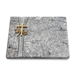 Grabtafel Viskont White Strikt Kreuz 1 (Bronze)