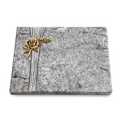 Grabtafel Paradiso Strikt Rose 1 (Bronze)
