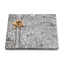 Grabtafel Paradiso Strikt Rose 4 (Bronze)