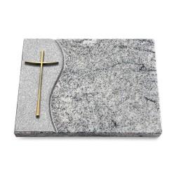 Grabtafel Paradiso Wave Kreuz 2 (Bronze)