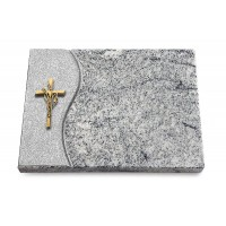 Grabtafel Paradiso Wave Kreuz/Ähren (Bronze)