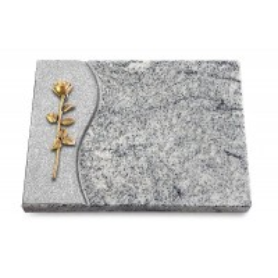 Grabtafel Paradiso Wave Rose 12 (Bronze)