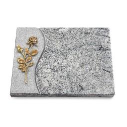 Grabtafel Paradiso Wave Rose 13 (Bronze)