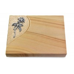 Grabtafel Rainbow Folio Rose 2 (Alu)